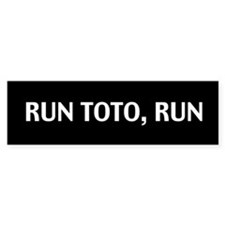Run Toto Run Sticker (Black Bumper)