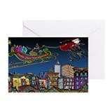 Santa Under New Management Greeting Cards (Pk of 2