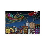 Santa Under New Management Rectangle Magnet (100 p