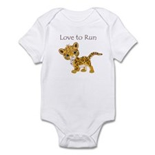 Love to Run Cheetah Infant Bodysuit