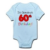 It's Grandma's 60th Birthday  Baby Onesie