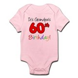 It's Grandpa's 60th Birthday Infant Bodysuit