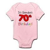 It's Grandpa's 70th Birthday Infant Bodysuit