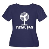 Metal Fan Women's Plus Size Scoop Neck Dark T-Shir