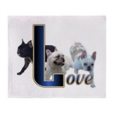 French Bulldog Love Throw Blanket