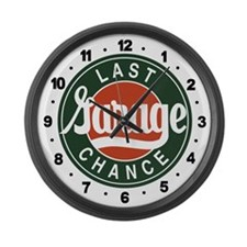 Last Chance Garage Large Wall Clock