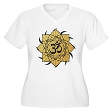 Golden Lotus Aum T-Shirt