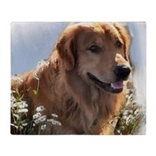 Golden Retriever Art Throw Blanket