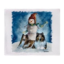 Collie Christmas Gifts Throw Blanket