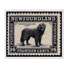 Vinatage Newfoundland Postage Throw Blanket