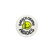 Barack Obama Abides Mini Button (100 pack)