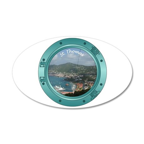 St Thomas Porthole 38.5 x 24.5 Oval Wall Peel
