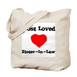 Most Loved Sister-in-law Tote Bag