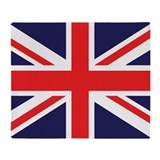 Union jack Throw Blankets