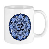Aum Lotus Mandala (Blue) Small Mugs