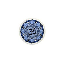Aum Lotus Mandala (Blue) Mini Button (10 pack)