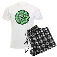 Aum Lotus Mandala (Green) Pajamas