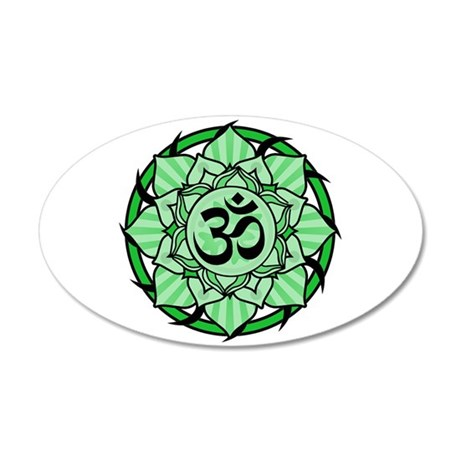 Aum Lotus Mandala (Green) 38.5 x 24.5 Oval Wall Pe