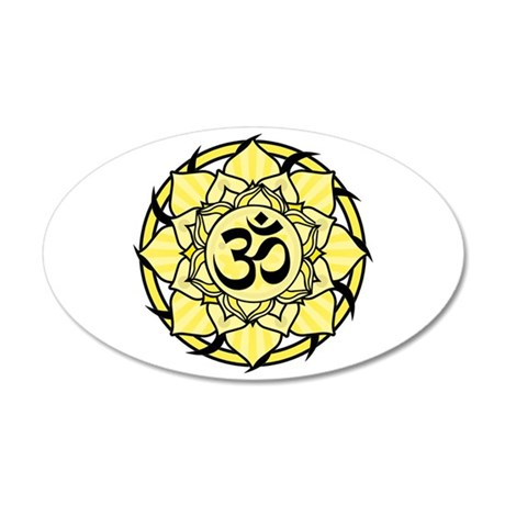 Aum Lotus Mandala (Yellow) 22x14 Oval Wall Peel