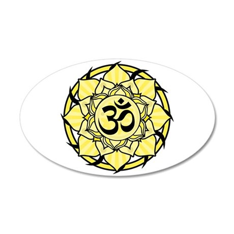 Aum Lotus Mandala (Yellow) 38.5 x 24.5 Oval Wall P