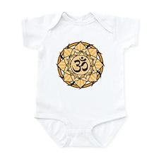 Aum Lotus Mandala (Orange) Infant Bodysuit