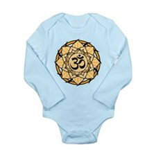 Aum Lotus Mandala (Orange) Long Sleeve Infant Body