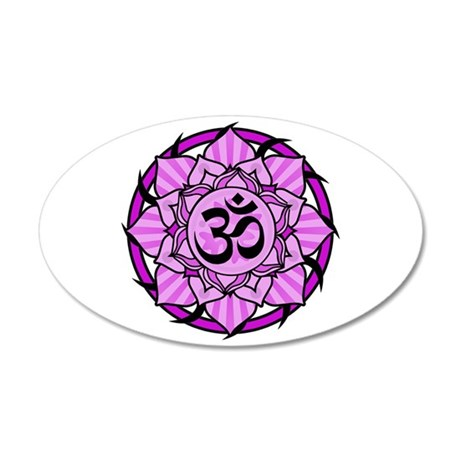 Aum Lotus Mandala (Purple) 22x14 Oval Wall Peel