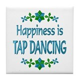 Happiness Tap Dancing Tile Coaster
