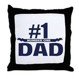 Number 1 DAD Throw Pillow