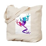 Crazy Purple Tree Frog Tote Bag