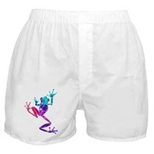 Crazy Purple Tree Frog Boxer Shorts