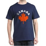 Canadian Maple Leaf Black T-Shirt
