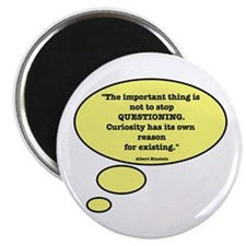 "Einstein & Curiosity 2.25"" Magnet (100 pack)"