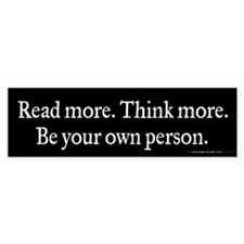 Read Think Be Bumper Sticker