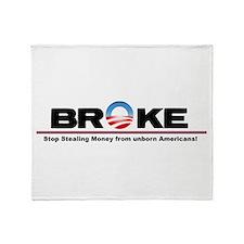 Stop the Spending Throw Blanket