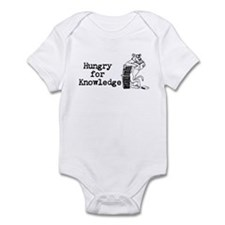 """Hungry for Knowledge"" Infant Onesie"