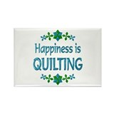 Happiness Quilting Rectangle Magnet