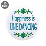 "Happiness Line Dancing 3.5"" Button (10 pack)"