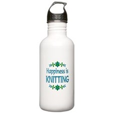 Happiness Knitting Water Bottle