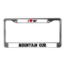 I Love My Mountain Cur License Plate Frame