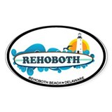 Rehoboth Beach DE - Surf Design Decal