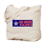 No More Taxes Flag Star Tote Bag