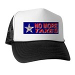 No More Taxes Flag Star Trucker Hat
