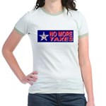 No More Taxes Flag Star Jr. Ringer T-Shirt