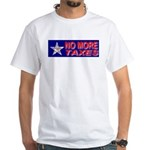 No More Taxes Flag Star White T-Shirt