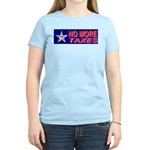 No More Taxes Flag Star Women's Pink T-Shirt