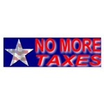 No More Taxes Flag Star Bumper Sticker