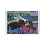 Happiness is a Basset Hound Rectangle Magnet (100