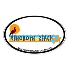 Rehoboth Beach DE - Beach Design Decal