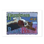 Happiness is a Basset Hound Postcards (Package of